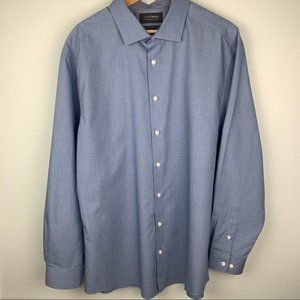 Denver Hayes Long Sleeve No Iron Button Up XL
